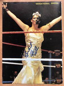 Sensational Queen Sherri Martel Signed Auto Autographed Magazine Photo WWF WWE