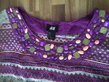 H&M Tunika Bluse Hemd Lila Purpur Größe 36