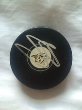 SETH JONES SIGNED PUCK NASHVILLE PREDATORS COLUMBUS BLUE JACKETS RISING STAR