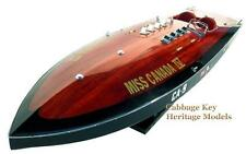 """Miss Canada IV, World Record Contender 1949, Magnificent 34"""" Wooden Model, built"""