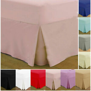 Egyptian Cotton Fitted Valance Sheets 200 Thread Single Double Super King Size