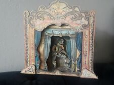 Vtg Commedia Dell'Arte Florence Moving Marionette Stage Music Box Puppet Theater