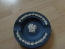 WEDGWOOD PORTLAND BLUE JASPERWARE MINIATURE ROUND  ASHTRAY