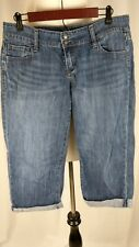 """Old Navy Jeans """"The Diva"""" Women's Stretch Cropped Capris Denim Blue Jeans Size 6"""