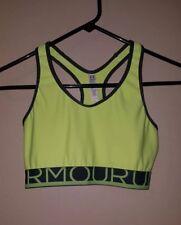 Under Armour Womens yellow & gray sports bra size medium