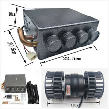 Universal Copper Car Underdash Compact Heater 12V Heat w/ Speed Switch &Fittings