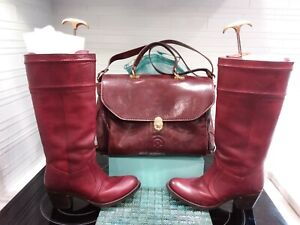 Frye  Red  All  Leather Boot women US 9 B. Classic, dressy  and comfortable