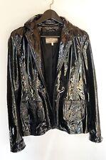 John Galliano veste cuir vernis noir -T.36