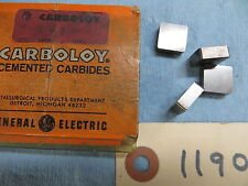 4 New Carboloy Cemented Carbide Inserts  SNG 433  Grade 210  Lot *1190*
