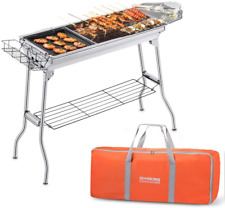 Portable Charcoal Grill, Foldable Bbq Grills Outdoor Cooking Charcoal Barbeque F