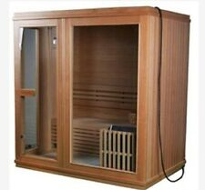 Red Cedar 4 PERSON INDOOR heated rocks SAUNA