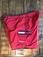 Tommy Hilfiger Board Shorts Surf Swim trunks Mens Red Large Pool Beach Summer