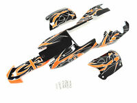 1/5 King Motor Painted Buggy Body Kit Fit KM HPI Baja 5B SS Rovan Wild Orange