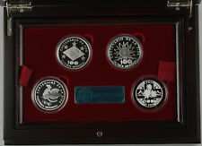 More details for 2004 100 years of fifa and world football  4 coin silver proof set - boxed/coa