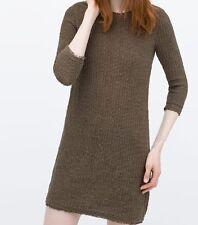 ZARA donna con frange e trama abito nuovo con etichetta taglia S