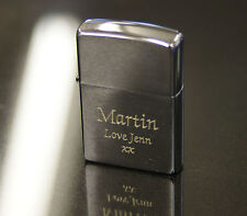 More details for personalised brushed chrome zippo lighter engraved smoking men's christmas gift