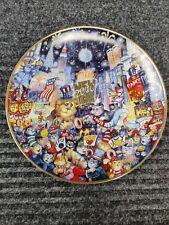 "Franklin Mint ""Ring in New Millennium"" Bill Bell Cat Plate Free Ship"
