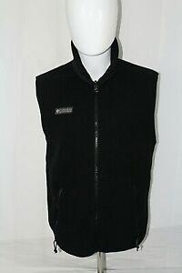 COLUMBIA Men's S Made in USA Black Fleece Polyester Full Zip Vest