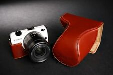 Handmade Genuine Real Leather Full Camera Case Bag for Canon Eos-m2 Zoom Lens