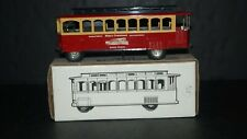 TROLLEY CAR MIKE'S TRAINLAND SUFFOLK VIRGINIA ERTL COIN BANK MPN 3557 w KEY NIB