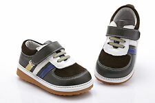 Boys Leather Shoes Grey,Brown,White for Toddler Kids Children age 1 - 5 years