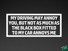 """""""MY DRIVING MAY ANNOY YOU"""" Funny Black Box New Driver Car Sticker Window/Bumper"""