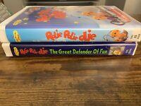 VTG Lot Of 2 80s/90s Kids VHS HTF OOP ~ Rolie Polie Olie DISNEY Playhouse RARE