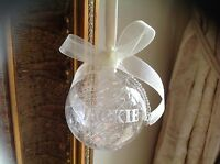 Personalised luxury glass snow storm bauble baby 1 st Christmas Hen party favour