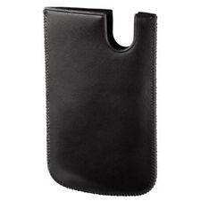 Hama Handy-Tasche schwarz für iPhone 4/4S, Samsung Galaxy S Advance, Echt Leder