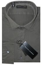 Ralph Lauren Black Label Gray Cotton Slim Fit Casual Dress Shirt XL 17 $245 New
