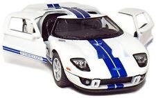 """Kinsmart 5"""" 2006 Ford GT Diecast Model Toy Car 1:36 New - White"""