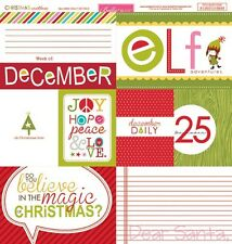 "Bella Blvd - CHRISTMAS Countdown Collec. 'DAILY DETAILS"" 12x12 Cardstock #684"