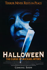 Halloween The Curse of Michael Myers - A4 Laminated Mini Movie Poster