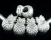 30pcs Tibetan Silver Pineapple Beads Fit European Charm Bracelet ZY114