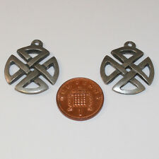 4 Cruz En Forma De Metal Color Plata Granos del Metal fabricación de joyas