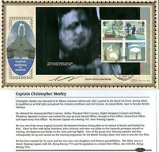 2007 WORLD OF INVENTION SIGNED CAPTAIN CHRISTOPHER MORLEY FIRST DAY COVER SHS