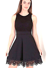 Black Lace Skater Dress Wedding Confirmation Occasion Teen Dress 8 10 12