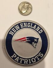 """NEW ENGLAND PATRIOTS EMBROIDERED VINTAGE/RETRO IRON-ON PATCH 3"""" ROUND!"""
