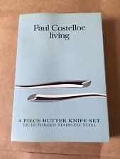BNIB Paul Costelloe Living 4 Piece Butter Knife Set, Forged Stainless Steel