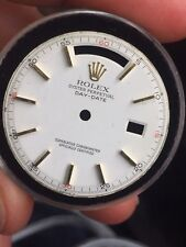 Rolex Vintage White Dial with Red Quarter Index Markers for 1803 Day Date Watch