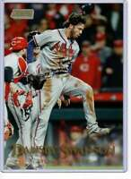 Dansby Swanson 2019 Topps Stadium Club 5x7 Gold #82 /10 Braves
