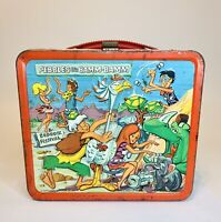 Vintage 1971 Pebbles and Bamm-Bamm Metal Aladdin Metal Lunchbox NO THERMO CUP