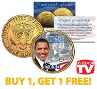BARACK OBAMA 2008 JFK Half Dollar Coin * AS SEEN ON TV * BUY 1 GET 1