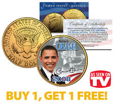 BARACK OBAMA 2008 JFK Half Dollar Coin * AS SEEN ON TV * BUY 1 GET 1