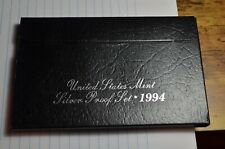 1994 SILVER PROOF SET AND COA REPLACEMENT BOX NO COINS GREAT BOX TOP QUALITY