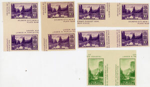 LOT of FIVE 1934 APE National Parks Series 3¢ Gutter Pairs #750a & #751a NH NG