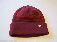 Diamond Supply Co. Beanie Unisex mens  womens Juniors Burgandy hat cap knit *^
