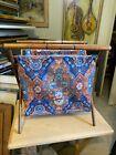 estate+wood%2Ffabric+vintage+folding+sewing+basket