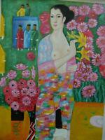 """Ölgemälde nach Gustav Klimt  """" Die Tänzerin"""" handgemalt"""