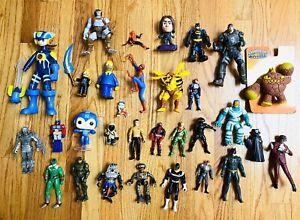 Huge Lot Of 31 New & Vintage Figures TMNT Power Rangers Batman Spiderman Megaman